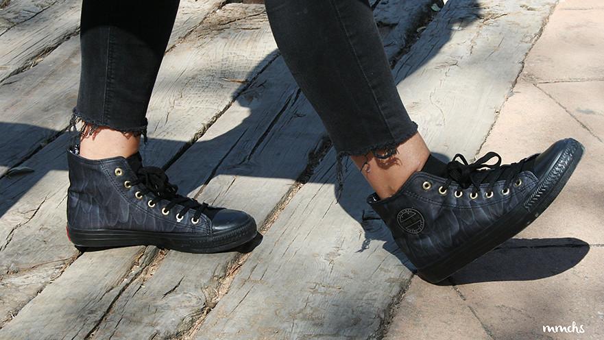 zapatillas happy luck negras