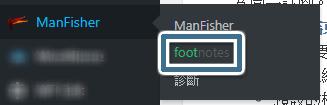 footnotes 外掛設定頁進入位置
