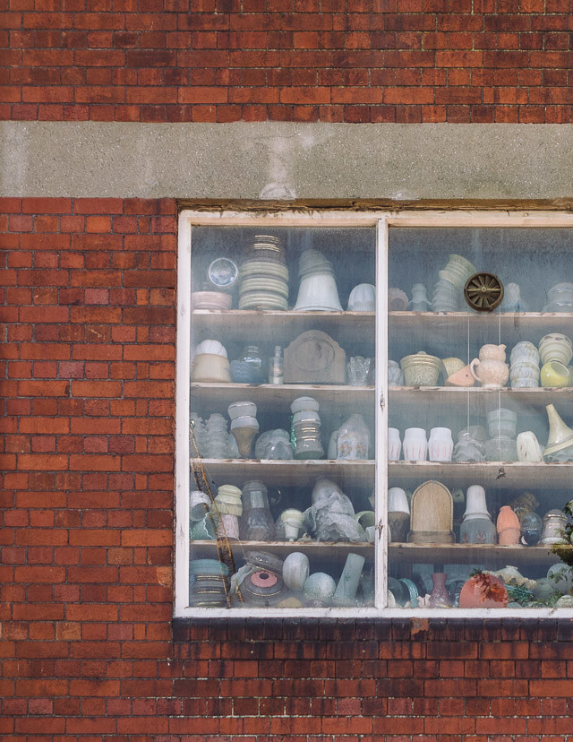 window of crockery in jacobs antiques
