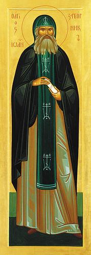 Икона преподобного Иоанна Затворника из иконостаса Никольского храма