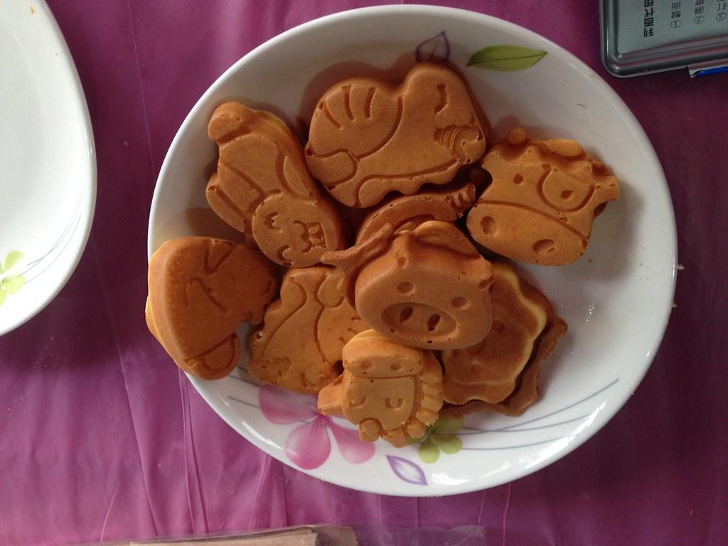 田董米做成的雞蛋糕。攝影:廖靜蕙