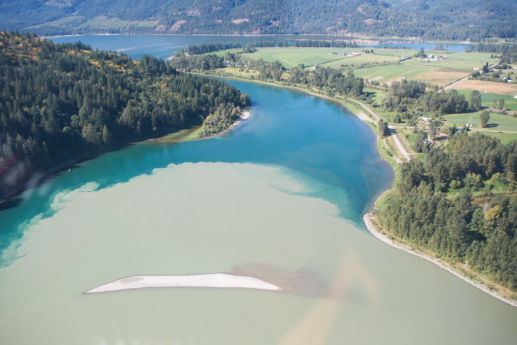 Harrison River meets the Fraser River