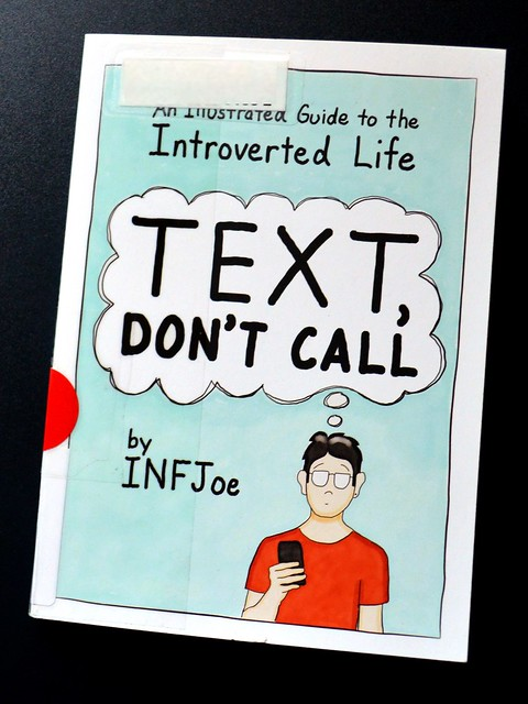 Illustrated Introverted Text Dont Call