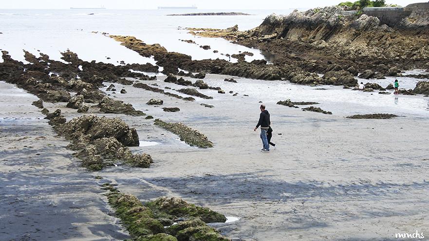 Paseando por la playa de Luanco