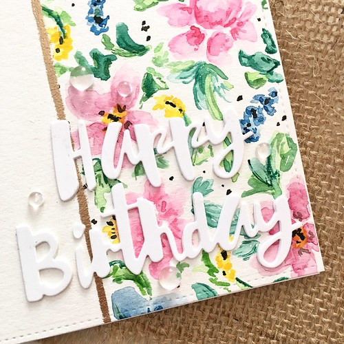 Freehand floral watercolor | by Kimberly Toney