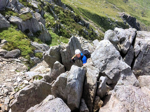 The difficult corner on Nor Nor Buttress
