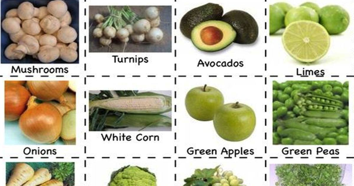 "Vocabulary: ""FRUITS & VEGETABLES"" 5"