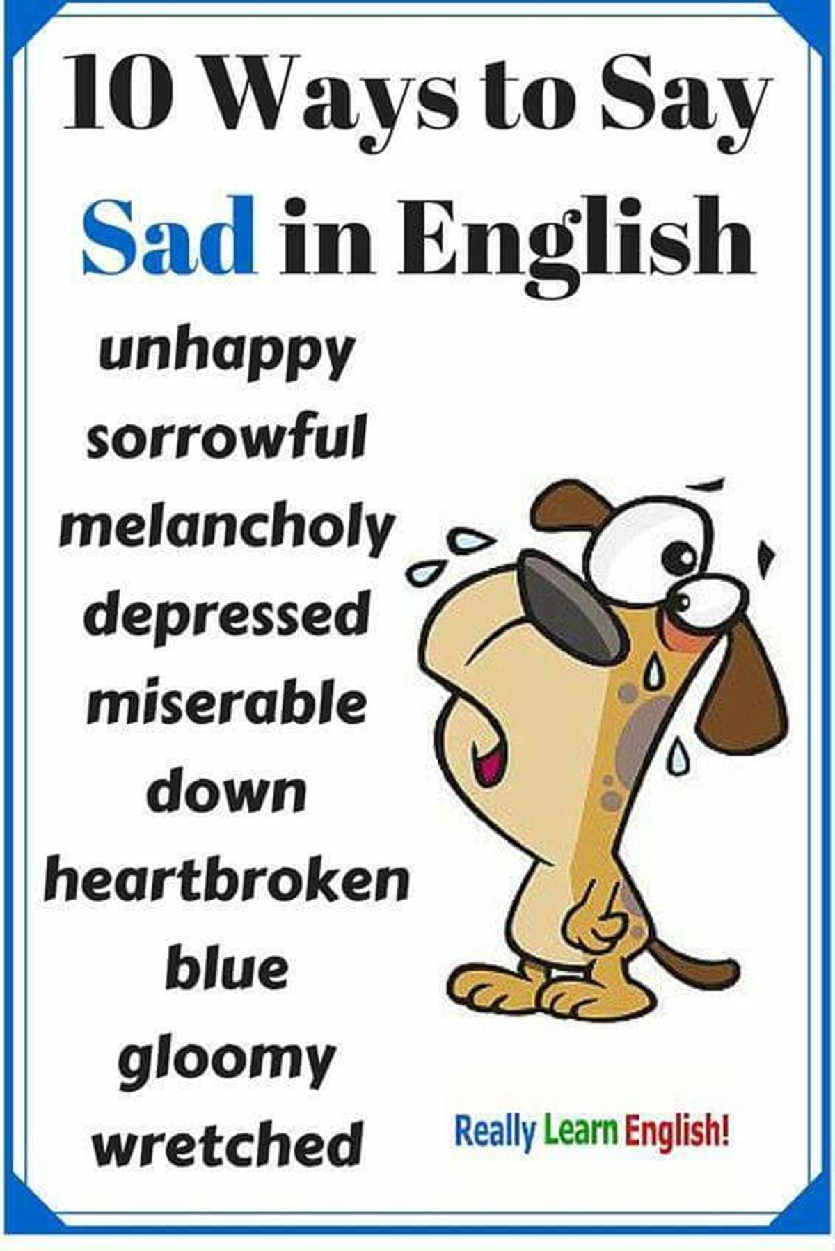 "10 Ways to Say ""SAD"" in English 3"