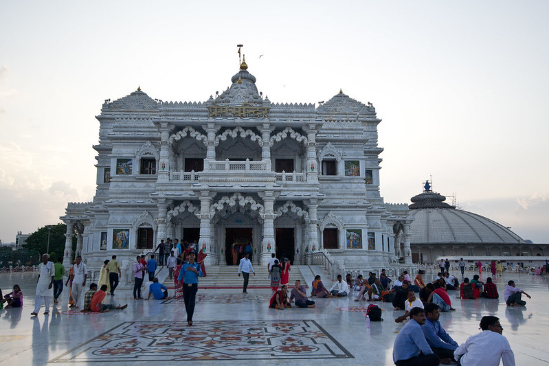 The entrance into the Prem Mandir Vrindavan