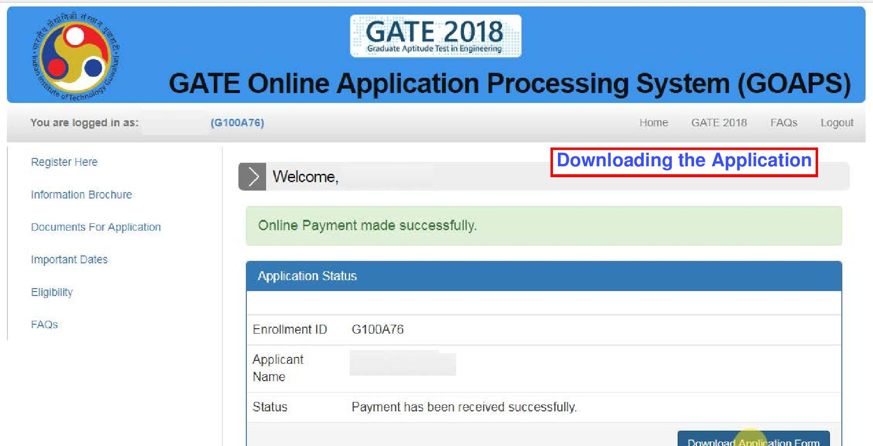GATE 2018 Application Form Filling Step by Step Instructions ... Application Form Gate on application submitted, application trial, application error, application clip art, application to be my boyfriend, application database diagram, application cartoon, application approved, application to date my son, application for scholarship sample, application for employment, application to rent california, application service provider, application to join a club, application in spanish, application to join motorcycle club, application insights, application template, application meaning in science, application for rental,