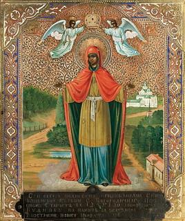 Старинная икона Божией Матери «Всех скорбящих Радость»