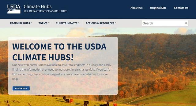 USDA's Climate Hubs' redesigned website