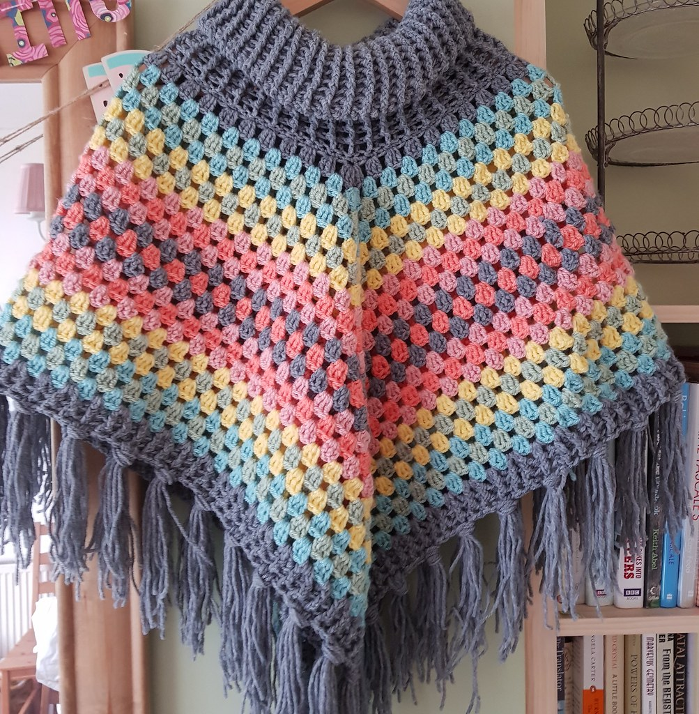 Bakercourt - Knitting, Sewing, Crafting.: Crochet Cowl Neck Poncho