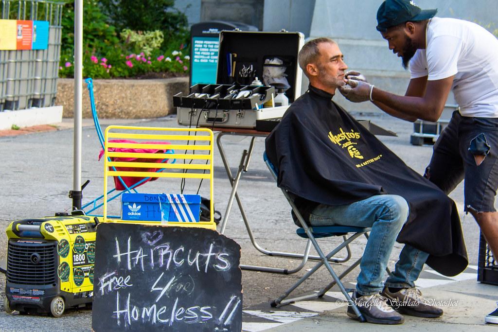 Haircut 4 Homeless Philadelphia Pa Marcello Sgarlato Photoshot