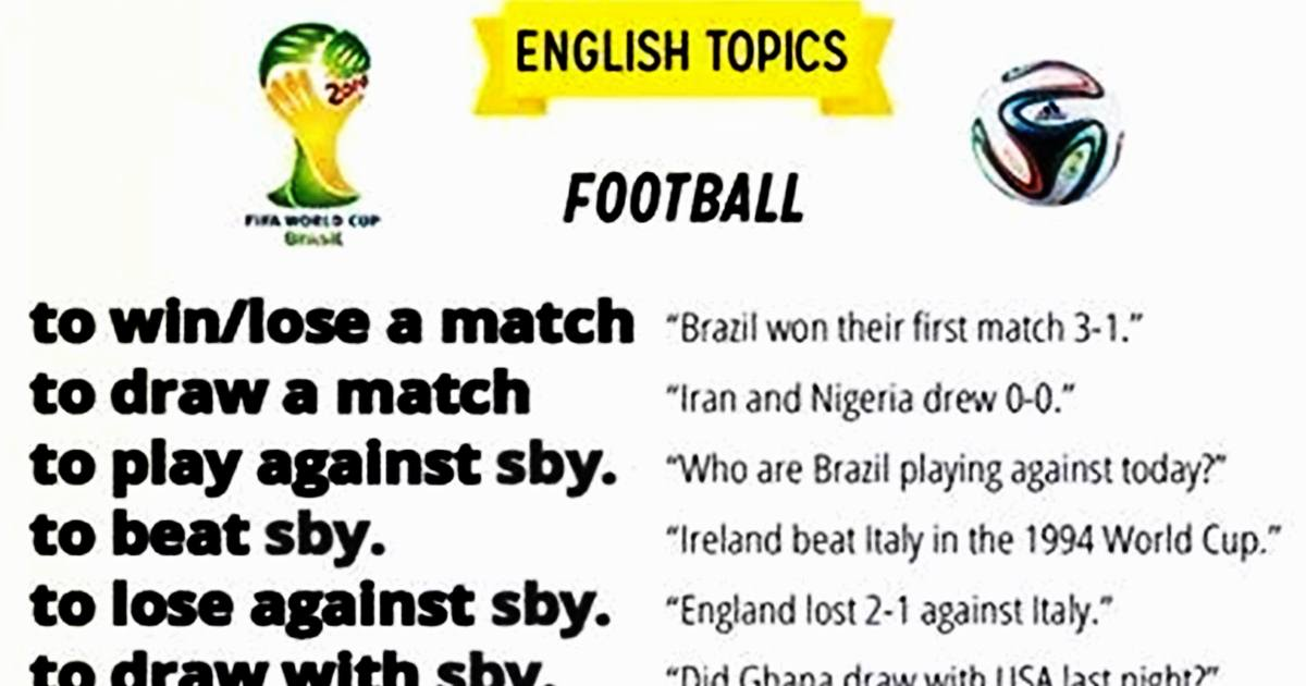 Useful Football Words & Phrases You Need to Know ;) 5