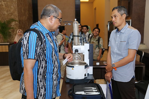Participant views AbadiNusa equipment | by International Conference on Science and Technology