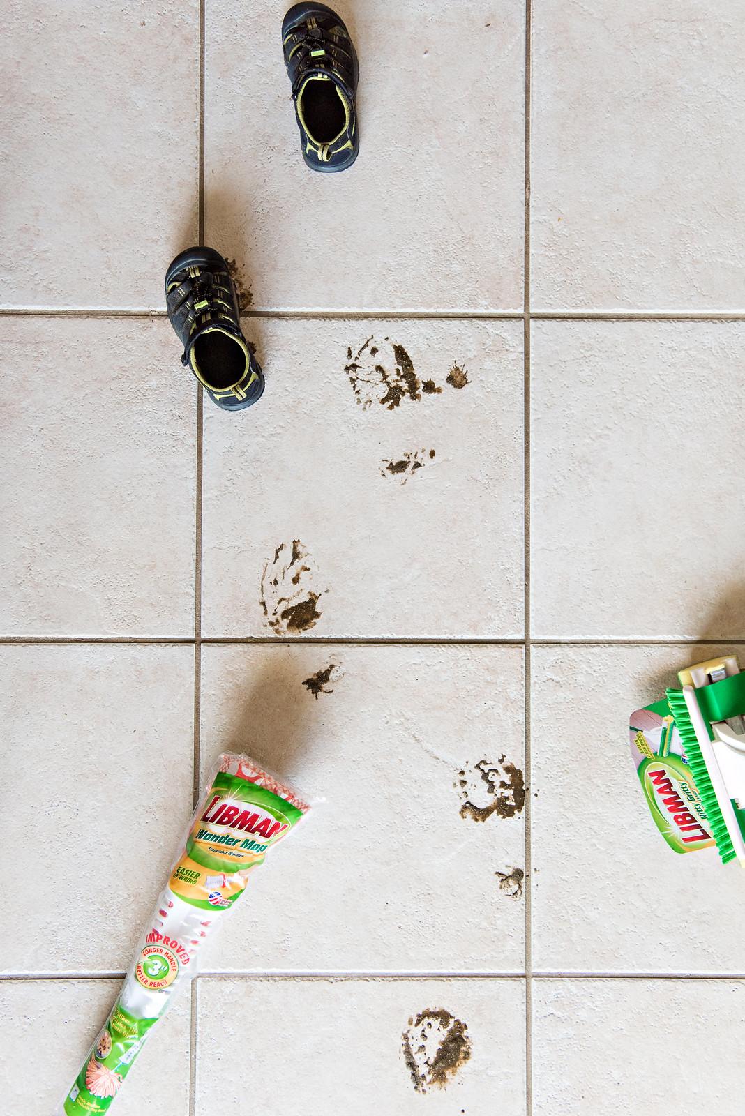muddy footprint floors