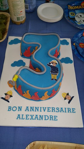 Number 3 fireman sam themed  birthday cake | by platypus1974