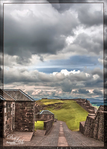 View from Stirling Castle in Scotland