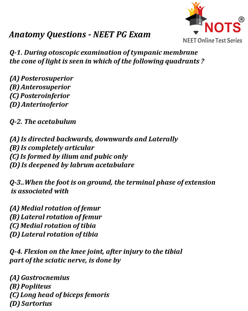 Anatomy Questions Neet Pg Exam Anatomy Questions For Nee Flickr