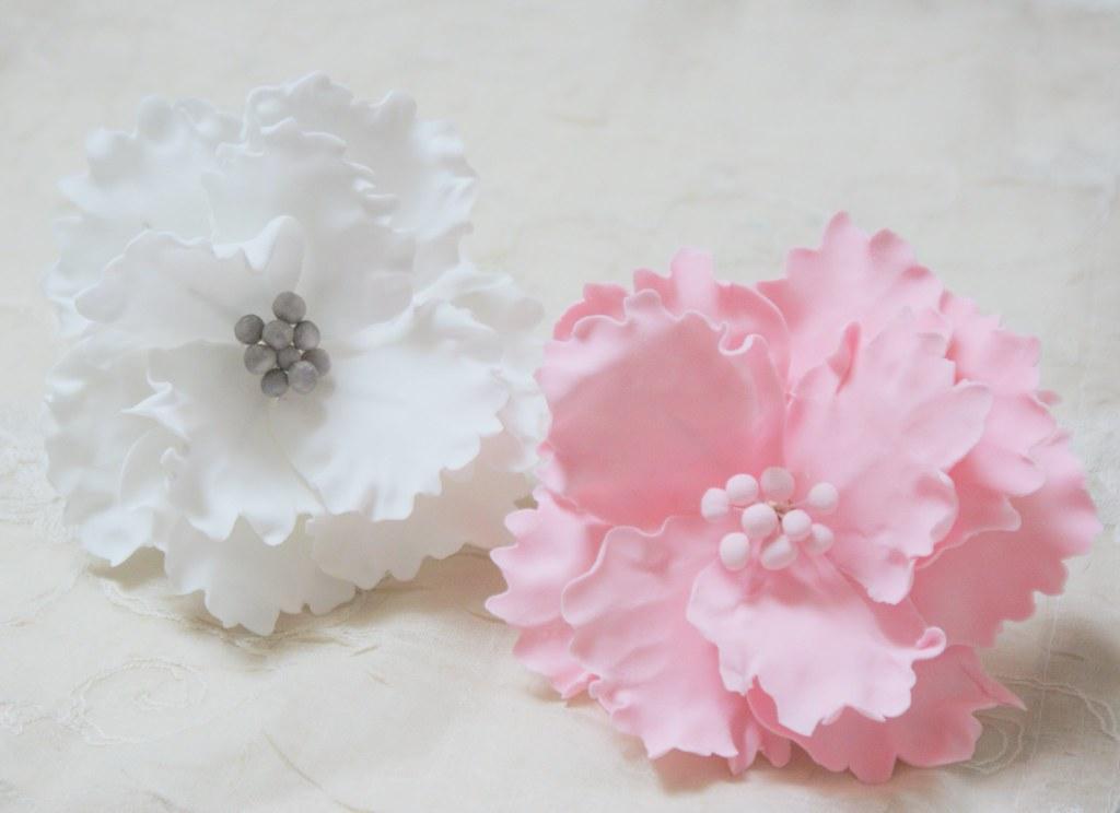 Zuckerblumen Zuckerblumen Hochzeitstorte Caketopper Bl Flickr