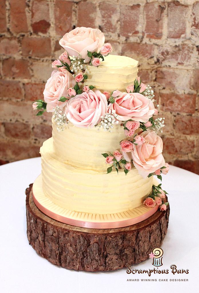 Buttercream Wedding Cake | Samantha Douglass | Flickr
