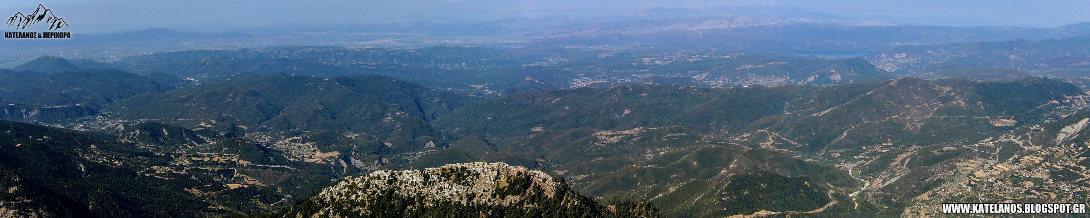 η θέα απο την κορυφη κεδρος στο παναιτωλικο ορος