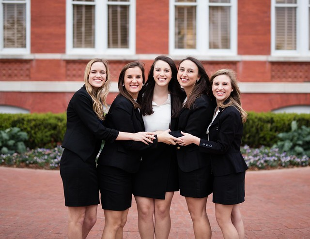 Pictured are the 2017 Auburn University Panhellenic Executive Officers