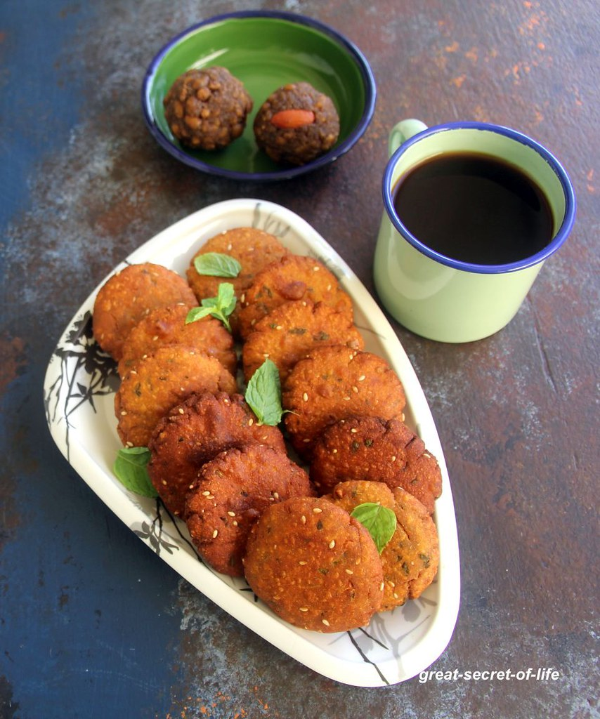 Bajra vada recipe - Gujarati Bajri vada recipe - pearl millet vada recipe - Snack recipes - millet recipes