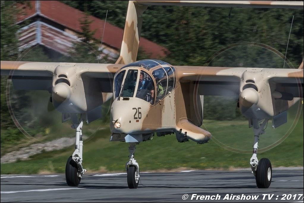 OV-10 Bronco F-AZKM , Musée Européen de l'Aviation de Chasse 50ans d'Aviation Megeve 2017 - altiport de Megève , Haute-Savoie, Auvergne-Rhône-Alpes , Meeting Aerien 2017