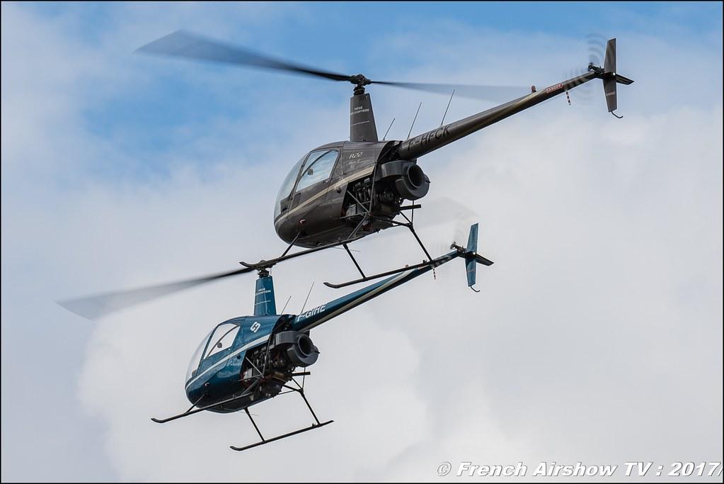 Tango Bleu , patrouille d'hélicoptère , Robinson 22 , Legend Air en Limousin 2017 , aérodrome de Saint Junien 2017 , Meeting Aerien 2017