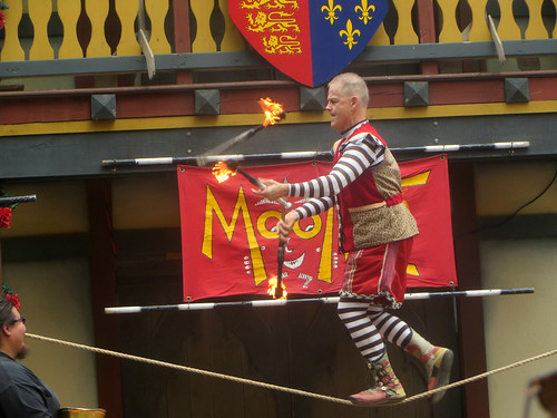 MooNiE Juggles Fire on Tightrope | by edenpictures