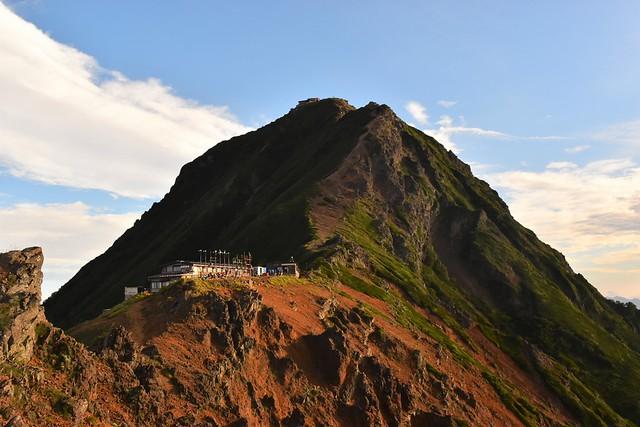 地蔵尾根からの赤岳