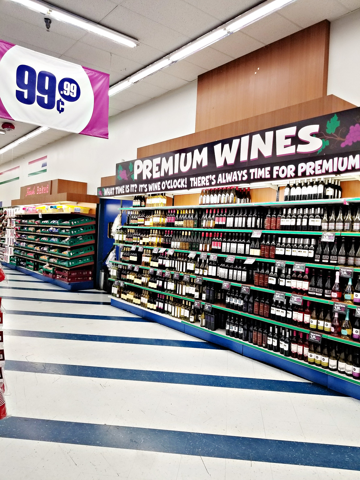 wines at the 99 cents only