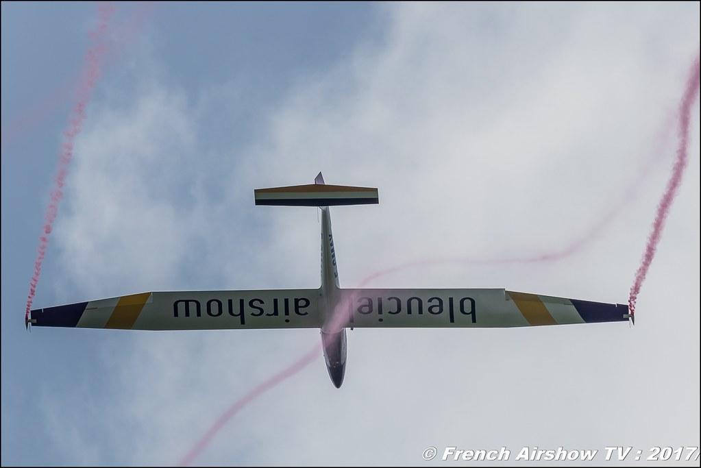 Pilatus B4 F-CMAX , Bleuciel Airshow, Denis Hartmann - Planeur Voltige, B4 Aerobatic Airshow ,JPO Aurillac 2017 , Meeting Aerien Aeroclub du cantal 2017