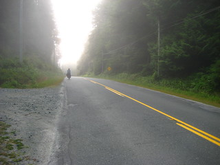 Cyclist In The Mist | by WireLizard