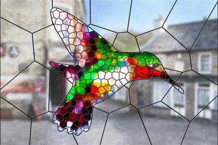 Stained Glass Photoshop action stained glass from photos
