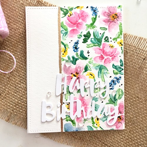 Floral watercolor background | by Kimberly Toney