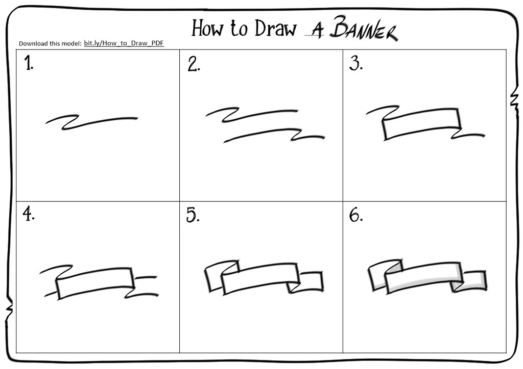 How to draw a banner by luigi mengato