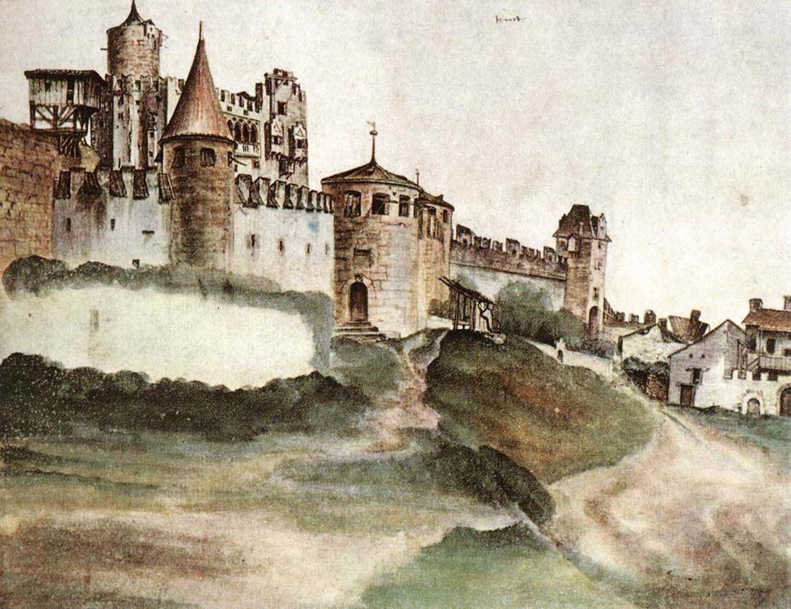 Albrecht Dürer, Das Schloss von Trient, 1495