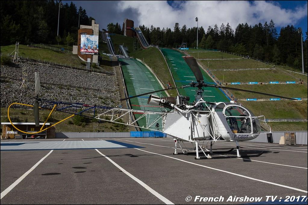 Aerospatiale SA-313B Alouette ll - F-GBDT , Coupe du Monde Saut à Ski – Courchevel, worldcupcourchevel 2017, FIS, show aerien , Meeting Aerien 2017