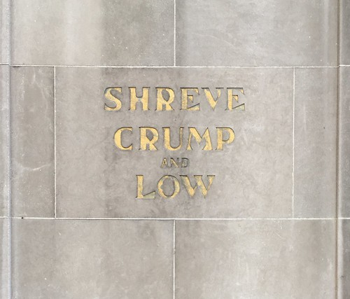Shreve, Crump and Low sign, 1930, Boston | by Stewf