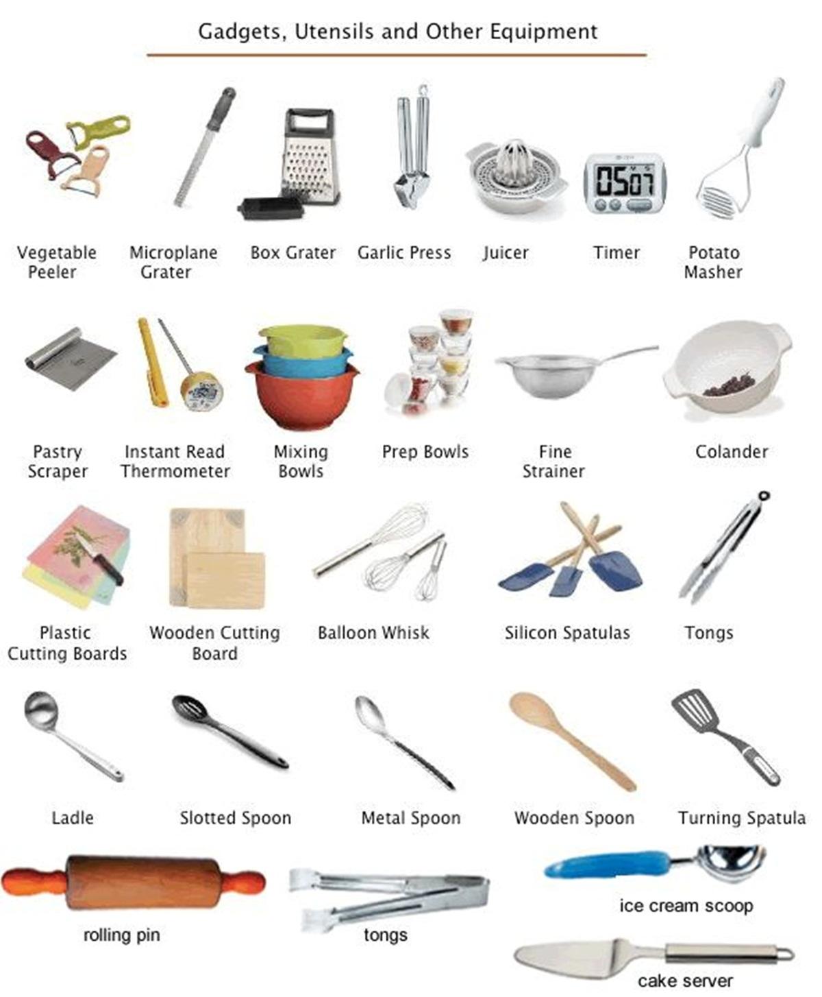 Vocabulary: KITCHEN UTENSILS 3