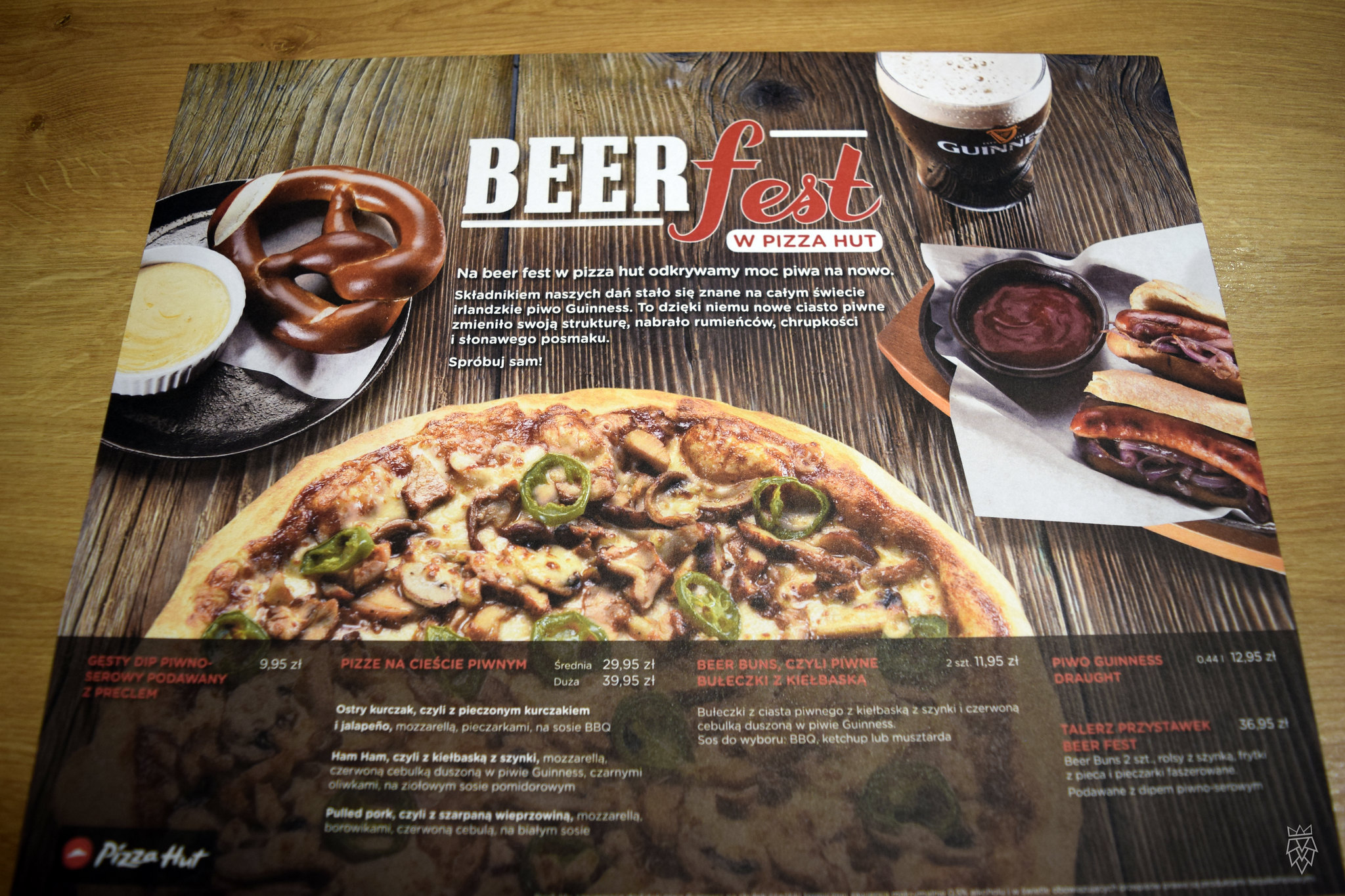 Beer menu | Pizza Hut