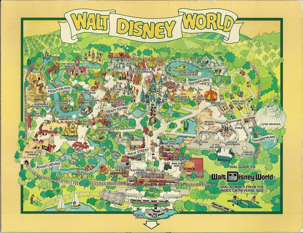 1980 Walt Disney World Dial Map | In August 1983 we visited … | Flickr