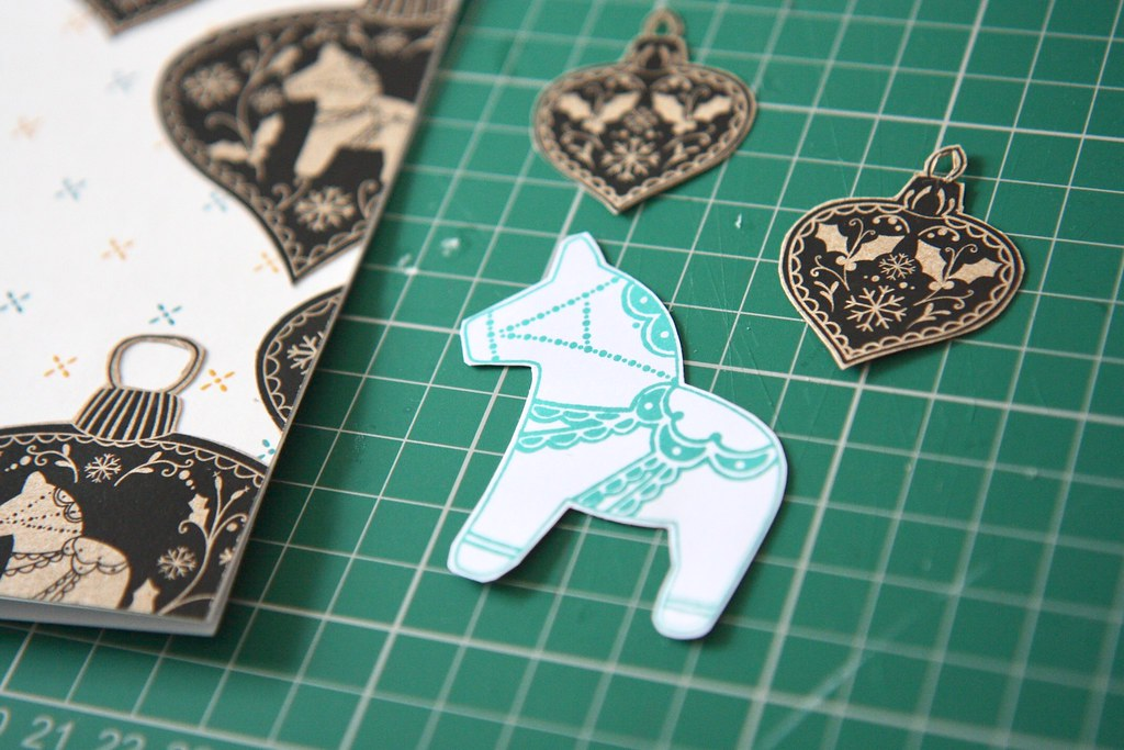 StickerKitten Dala Horse stamp set - stamped decorative Dala horse