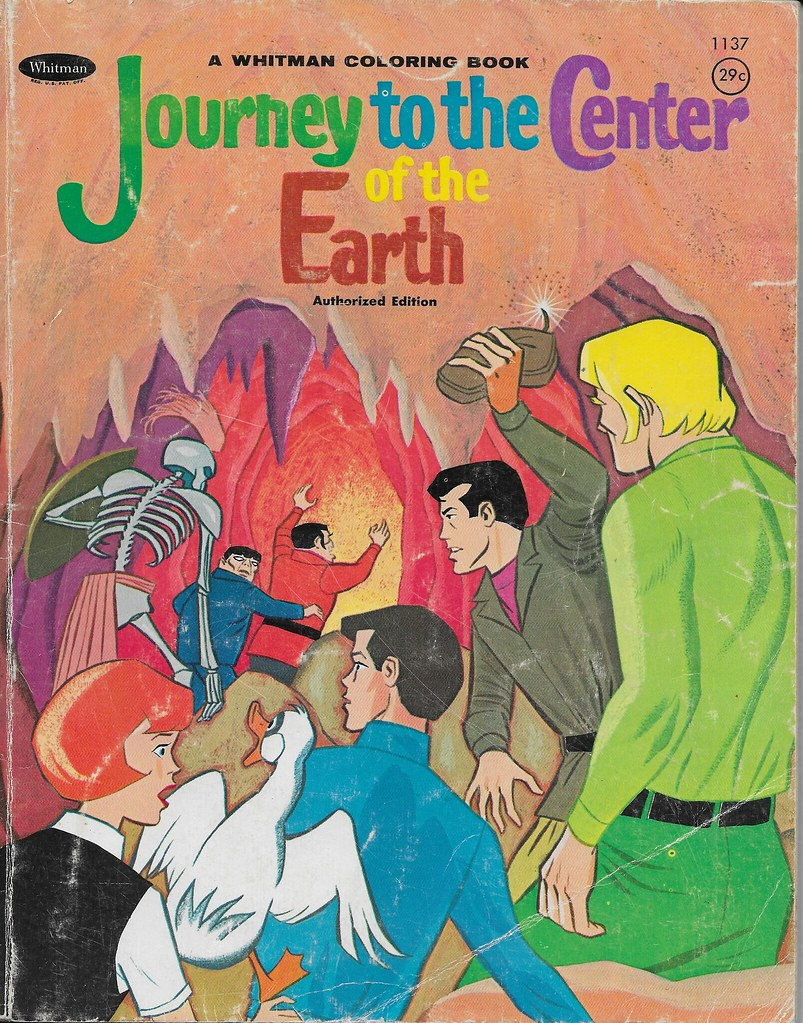 Journey To The Center Of The Earth Coloring Book ( Whitman… | Flickr