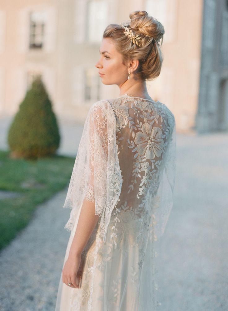 Wedding Dresses Inspiration Butterfly Sleeve Lace Dress