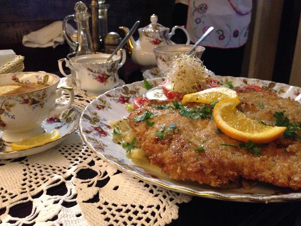 Варшава Польша еда в ресторане
