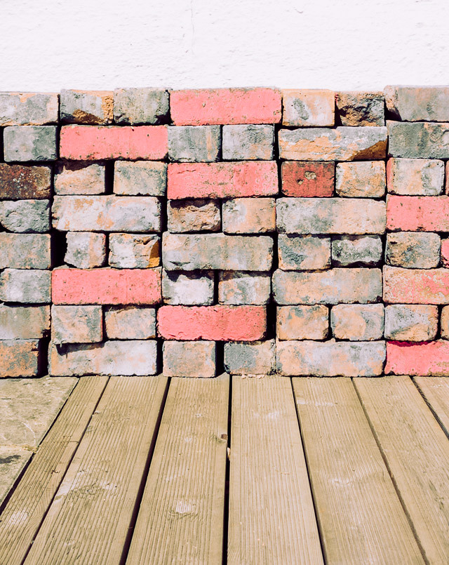 pile of colourful bricks